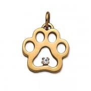 April - .07 pt Diamond Puppy Paw® Pendant