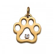 April - .12 pt Diamond Puppy Paw® Pendant