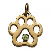 August - Puppy Paw® Pendant w/Peridot Gemstone