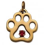 January - Puppy Paw® Pendant w/Garnet Gemstone