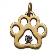 June - Puppy Paw® Pendant w/*Alexandrite (man-made) Gemstone