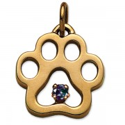 June - Puppy Paw® Pendant w/*Alexandrite (man-made) Gemstone