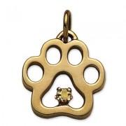November - Puppy Paw® Pendant w/Citrine Gemstone