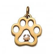 June - Puppy Paw® Pendant w/White Pearl Gemstone