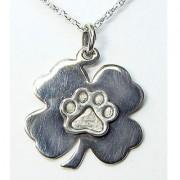 Four Leaf Clover Pendant w/Puppy Paw®