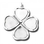 SS Heart Locket 4-Sided  w/Puppy Paw®