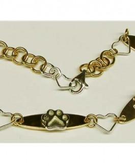 GF & SS Puppy Paw® Bracelet w/Heart Links