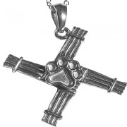 Bridget's Cross Pendant w/Puppy Paw®