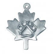SS Maple Leaf Pendant w/SS Puppy Paw®