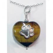 Tiger's Eye Heart w/Puppy Paw®