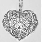 Celtic Heart Pendant w/Puppy Paw®