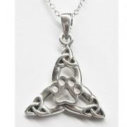 SS Celtic Quadruple Triqueta Pendant w/Sterling Silver Puppy Paw®