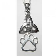 Celtic Knot (Triangular) Pendant w/Puppy Paw®