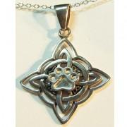 Celtic Quaternary Knot w/Puppy Paw®
