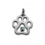 December - Swarovski® Puppy Paw® Pendant