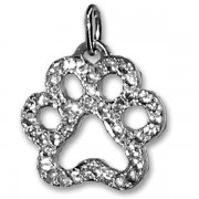 Pavé Diamond Puppy Paw® Pendant