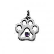 February - Swarovski® Puppy Paw® Pendant
