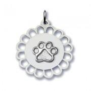 Circular Floral Pendant w/Puppy Paw®
