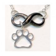 Infinity w/Open Puppy Paw® Pendant