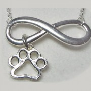 Infinity w/Open Puppy Paws® Pendant