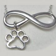 Infinity w/Open Puppy Paws® Pendant