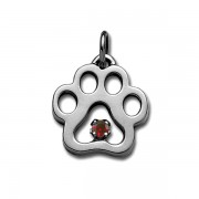 January - Swarovski® Puppy Paw® Pendant