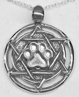 Star of David Pendant w/Puppy Paw®