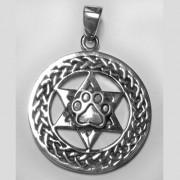SS Celtic Pendant w/Jewish Star w/Puppy Paw®