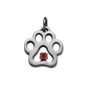 July - Swarovski® Puppy Paw® Pendant