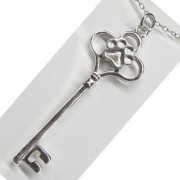 SS Large Key Pendant w/Sterling Silver Puppy Paw®