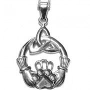 Claddagh Pendant w/Puppy Paw® (Large)