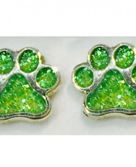Sterling Spring Puppy Paw® Post Earrings