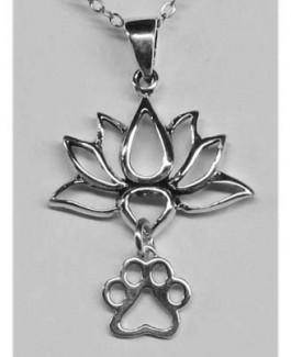 SS Lotus Pendant w/Puppy Paw®