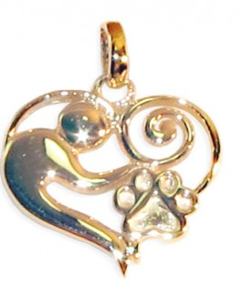 "14k Mother &  ""Child"" Pendant w/Puppy Paw®"
