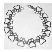 Multi -Paw Puppy Paws® Sterling Silver Bracelet