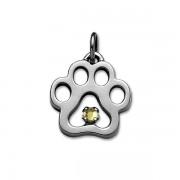 November - Swarovski® Puppy Paw® Pendant