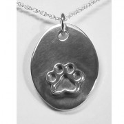 Oval Engraveable Puppy Paws® Pendant