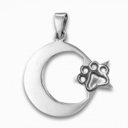 Dog Jumped Over the Moon Pendant w/Puppy Paw® Pendant