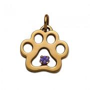 September - Puppy Paw® Pendant w/Sapphire Gemstone