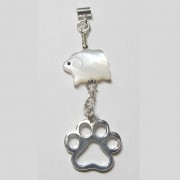 Sheep w/Puppy Paw® Pendant