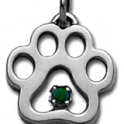 May - Swarovski® Puppy Paw® Pendant