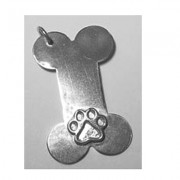 Dog Bone Pendant w/Puppy Paw®