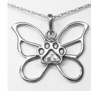 Butterfly w/SS Puppy Paw®