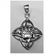 SS Celtic Weave Pendant w/Sterling Silver Puppy Paw®