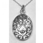 SS Oval Filigree Locket w/Puppy Paw®