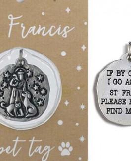 St. Francis Metal Pet Tag