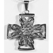 Celtic Cross (Stainless Steel ) w/Puppy Paw® - Large w/Open Weave