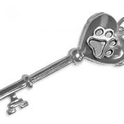 SS Key Locket w/SS Puppy Paw®