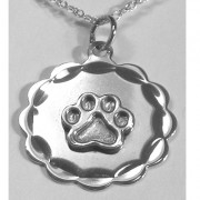 Round Engraveable Puppy Paws® Pendant