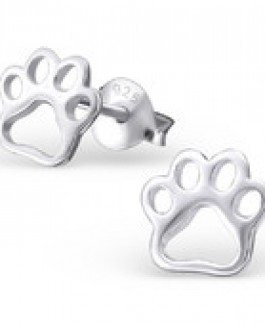 Tiny Sterling Silver Paws